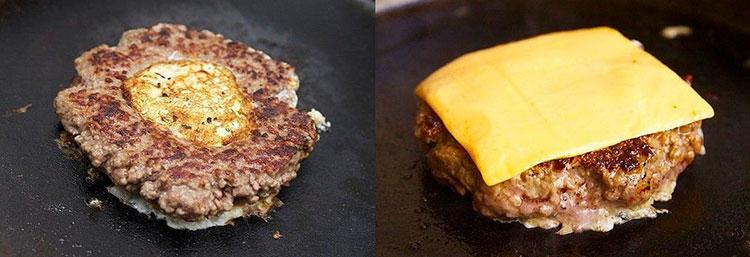 Домашний чизбургер с яйцом: интересные закуски на Новый Год 2017