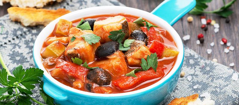 рыбное рагу с овощами рецепт с фото