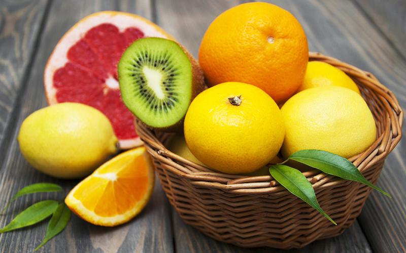 витамин C в цитрусовых