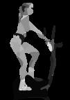 тренировка на эллиптическом тренажёре, ходьба назад