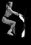 тренировка на эллиптическом тренажёре, Ходьба в положении сидя