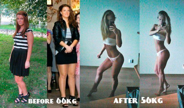 Дарья Семихватова Dasha Scream фитнес до и после