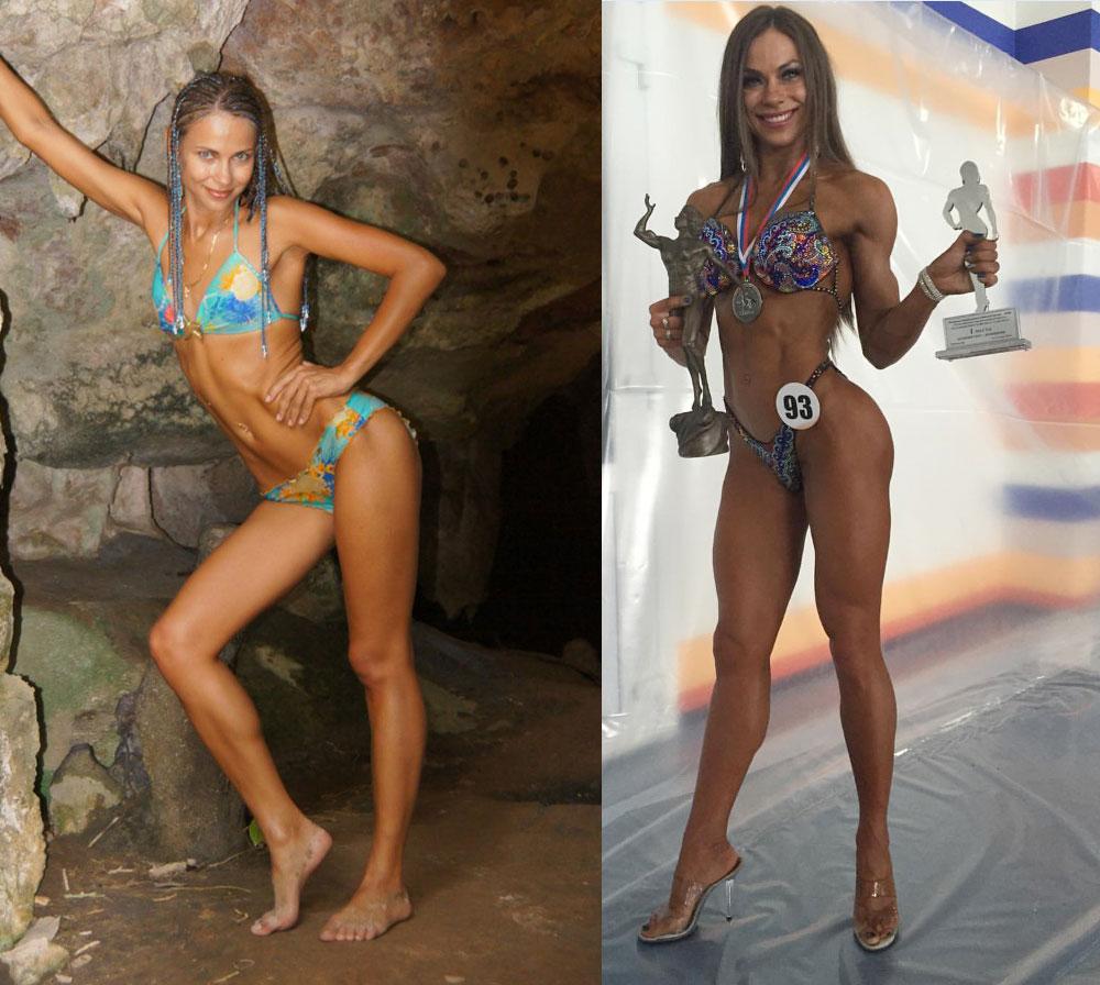Алёна Ярован Фитнес-бикини до и после