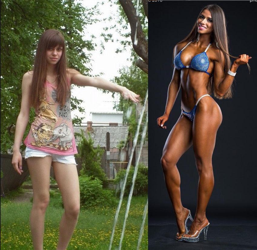 Диана Волкова Фитнес-бикини до и после