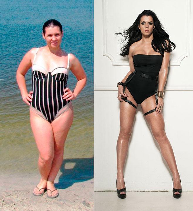 Марика Матесович Фитнес-бикини до и после