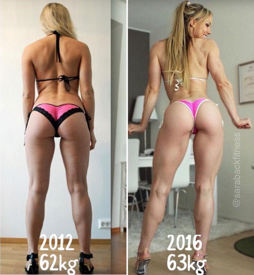 Sara Back Фитнес-бикини до и после