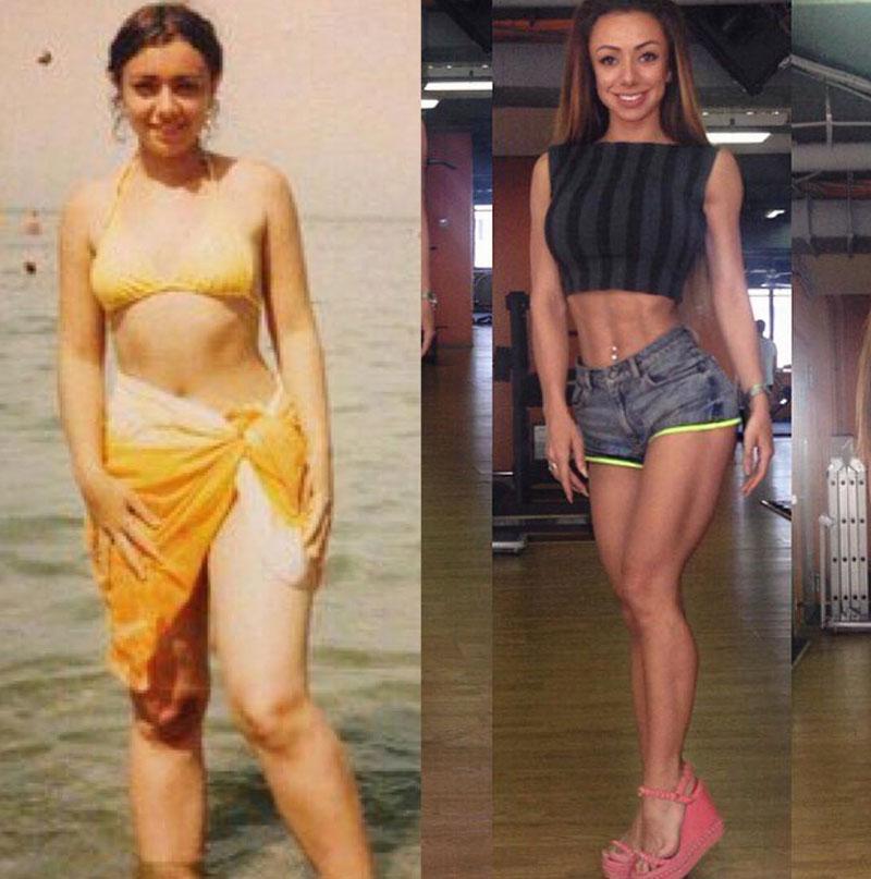 Соня Нэкс полная Фитнес-бикини до и после