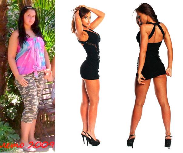 Ульяна Гросс фитнес до и после