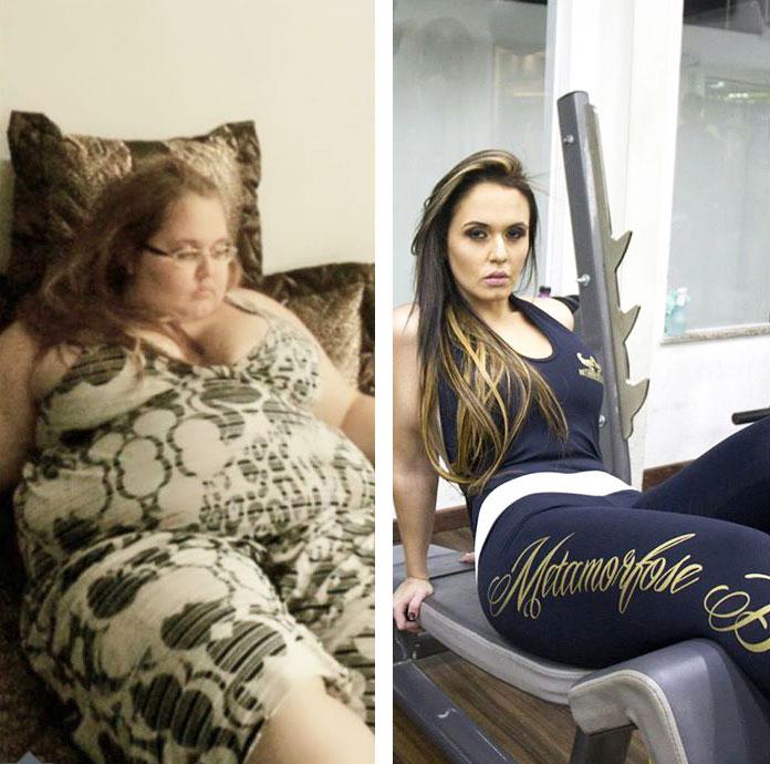 до и после похудение на 90кг Джессика Валитутто