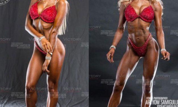 Анастасия Золотая фитнес-бикини