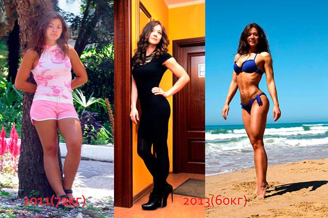 Арина Скоромная фитнес до и после