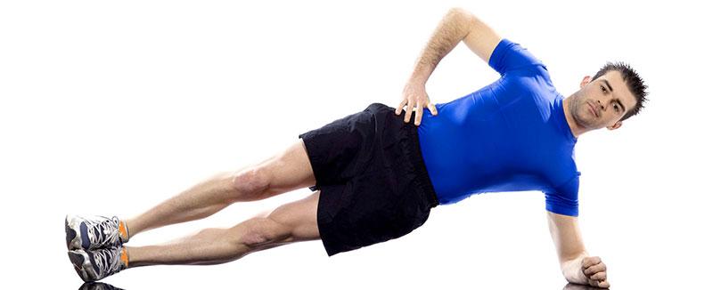 упражнение боковая планка с упором на локоть - как правильно делать