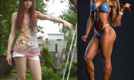Фитнес-бикини: до и после