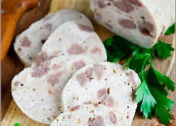 Домашняя колбаса из куриного филе