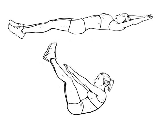 книжка - упражнение на пресс для девушек
