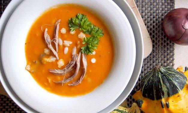 Тыквенный крем-суп с курицей